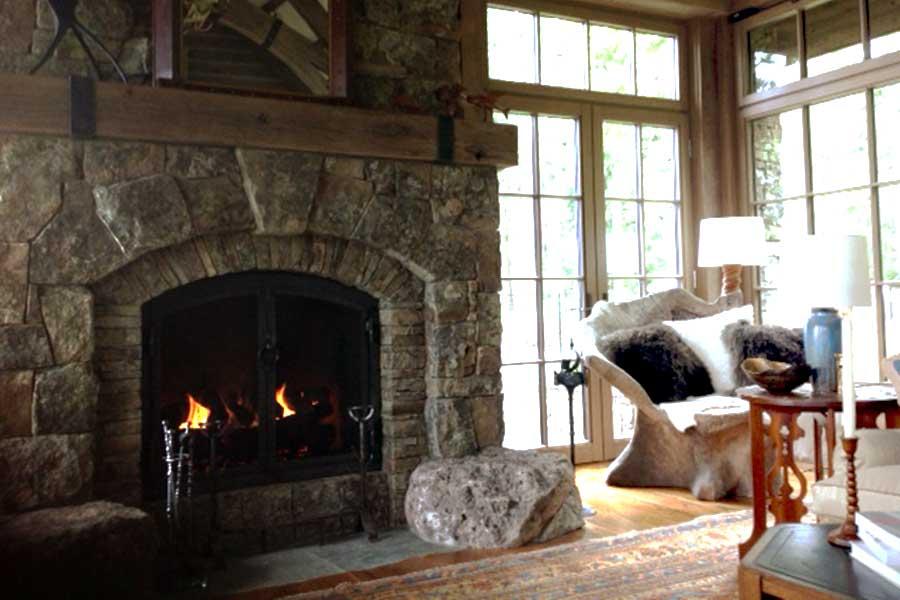 Ken Saling Masonry Fireplace