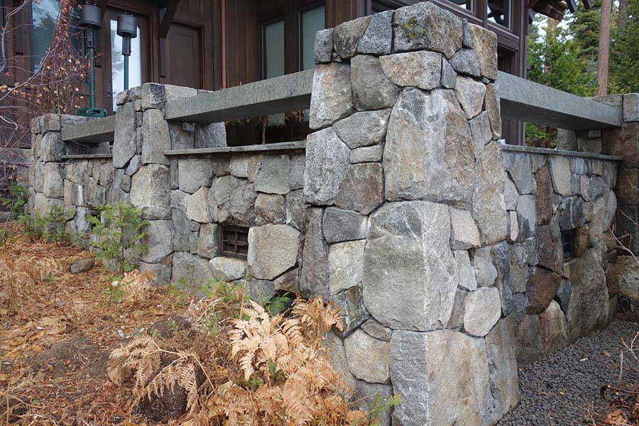 Stone Walls and Granite Benches