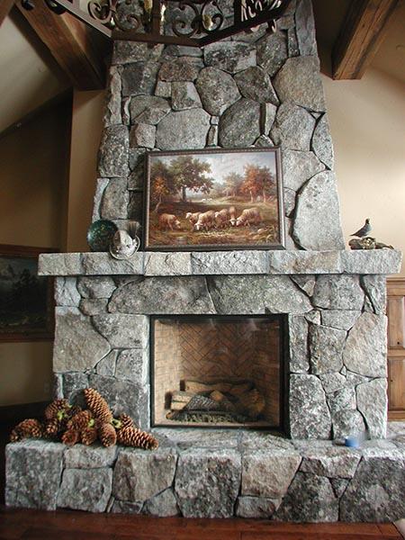 Granite Mantle Fireplace