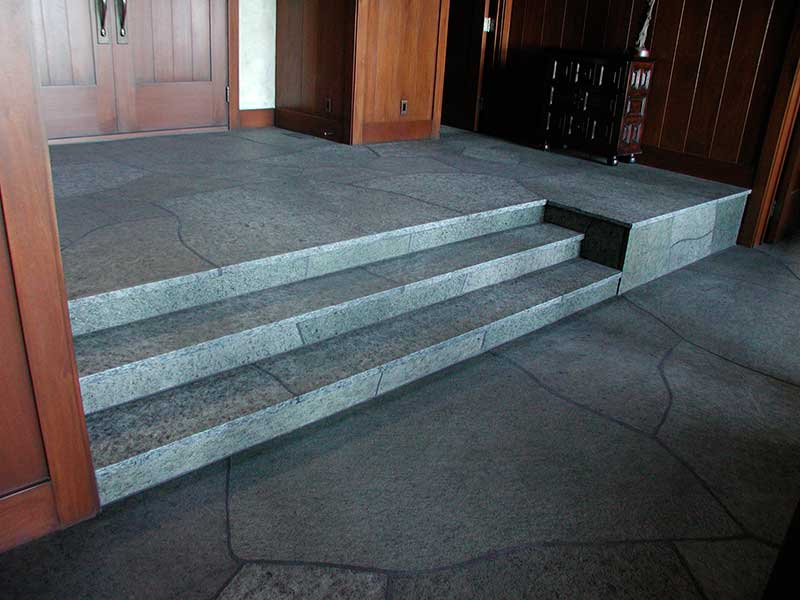 Stone Floor and Stairs
