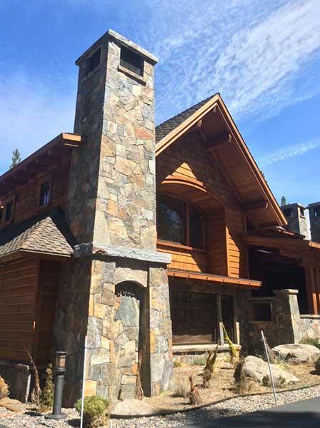Stone Fireplace Chimney