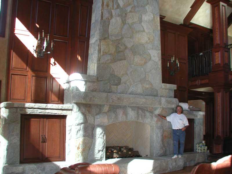 Large Stone Fireplace