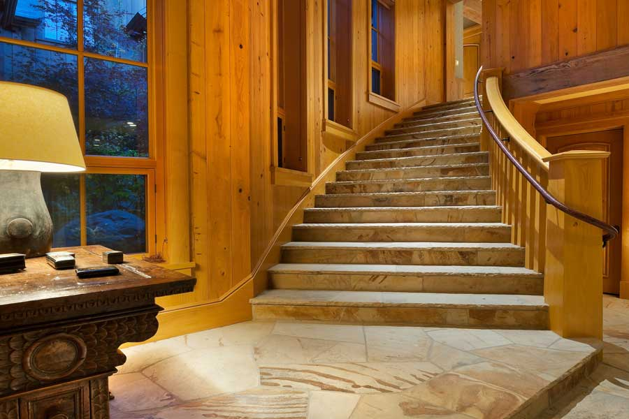 Stone Stairs and Floor