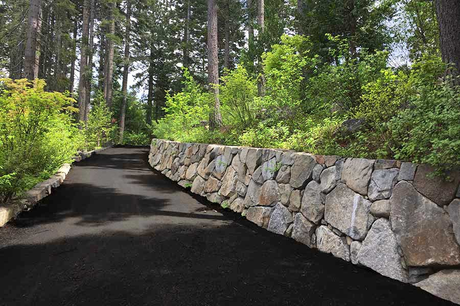Driveway Stone Wall