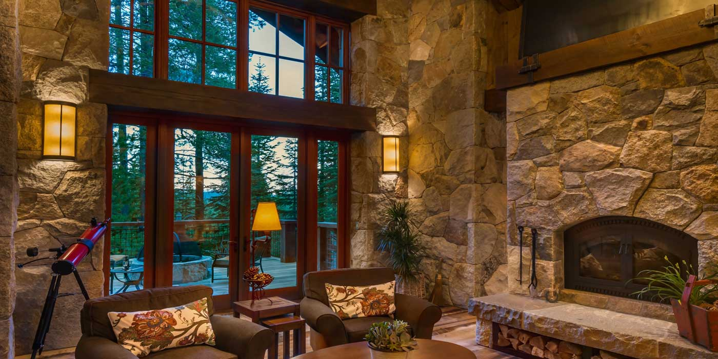 Stone Fireplace and Walls