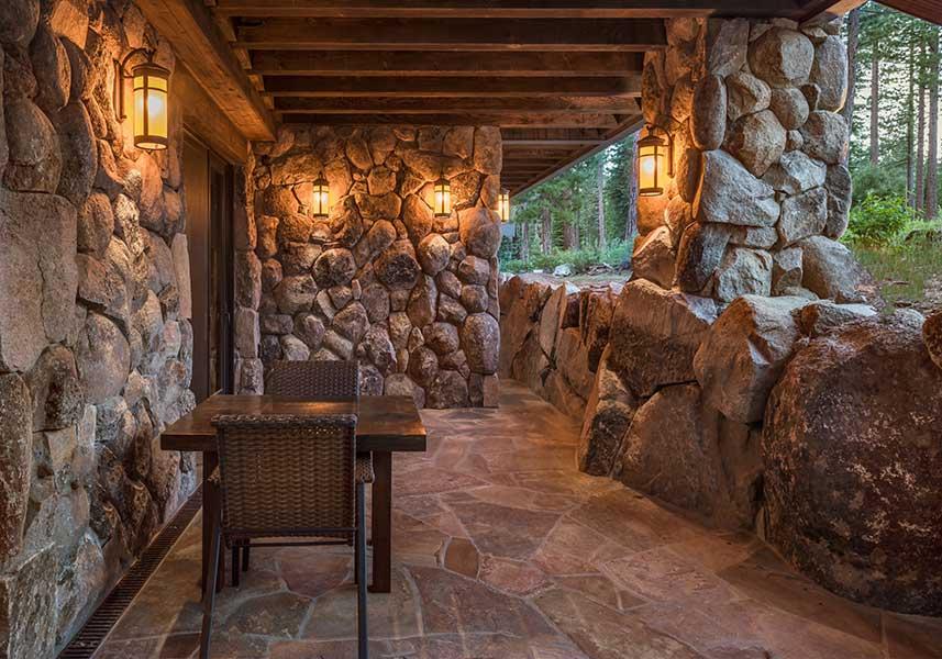 Martis Camp Stone Patio