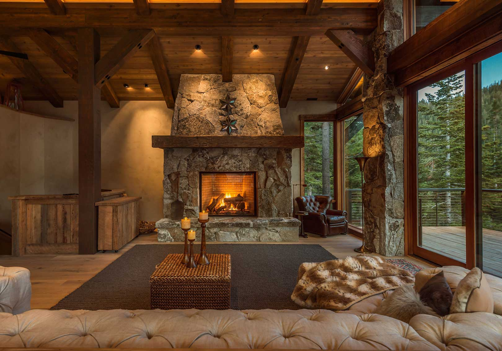 Alpine Meadows Fireplace