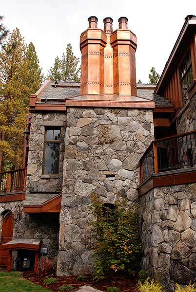 Stone chimney and walls