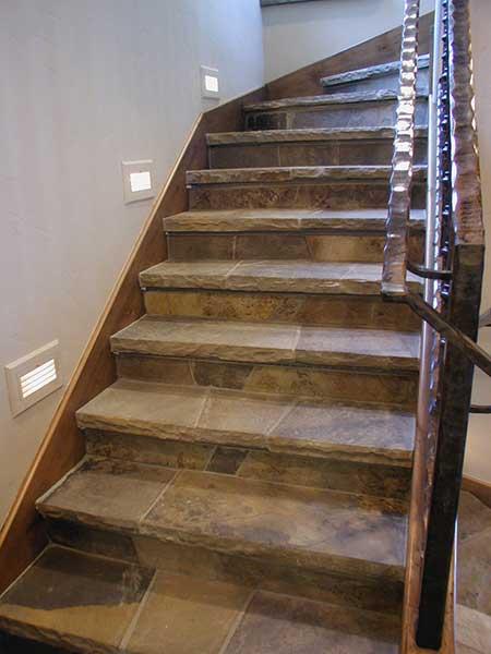 Interior stone stairway