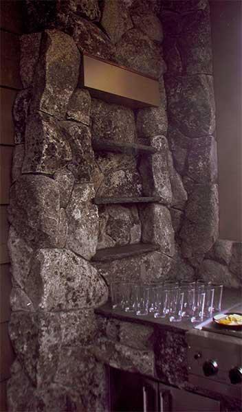 Stone Bar Shelves