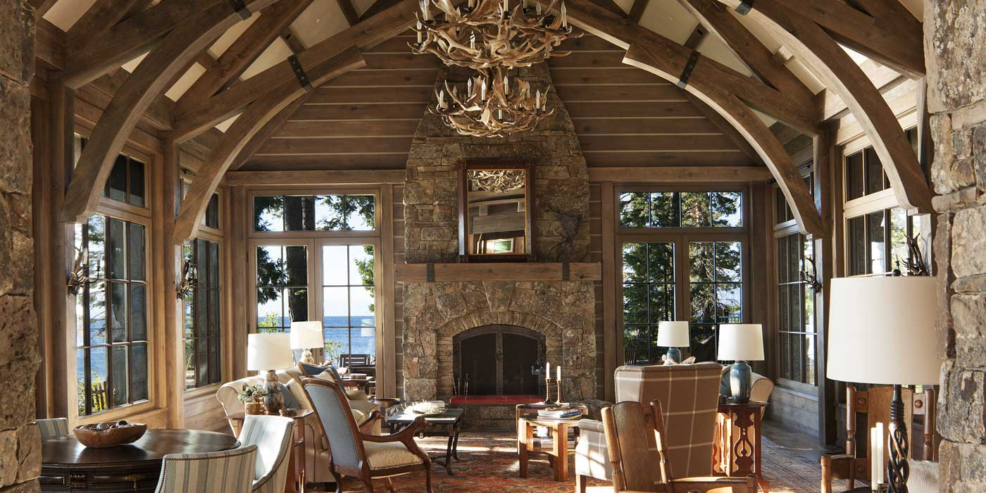 Lake Tahoe Custom Masonry Fireplace